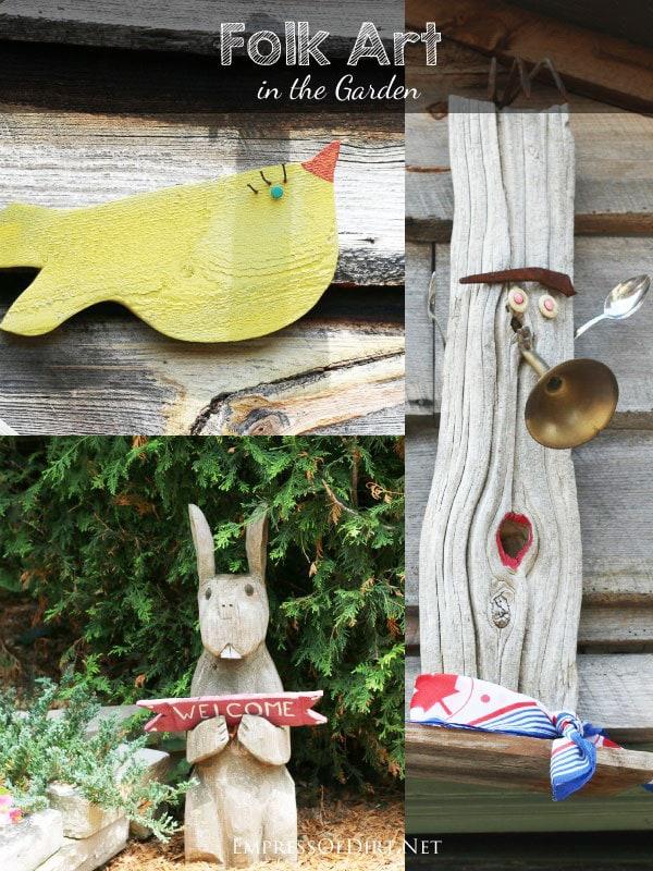15 Creative Folk Art Ideas in the garden at empressofdirt.net