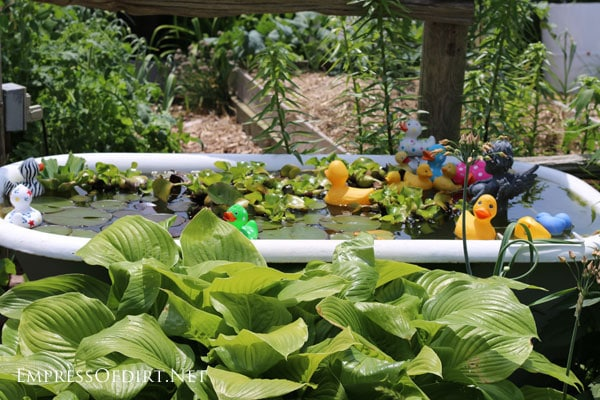Clawfoot tub garden pond   15 Creative Folk Art Ideas in the garden at empressofdirt.net