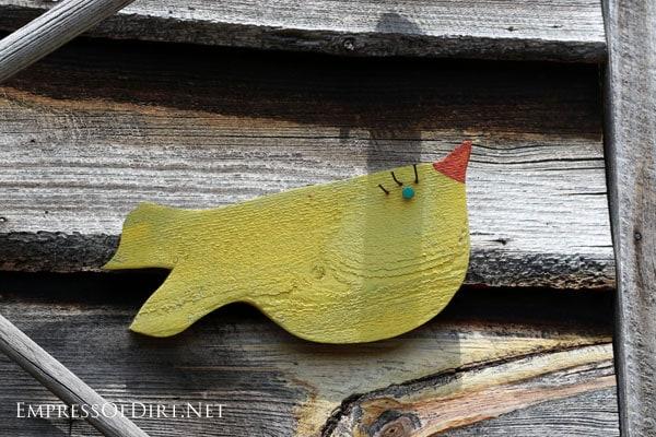 Yellow bird folk art | 15 Creative Folk Art Ideas in the garden at empressofdirt.net
