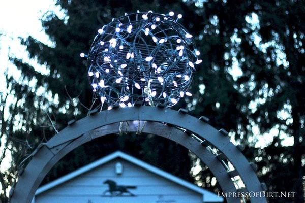 DIY sparkling garden orb