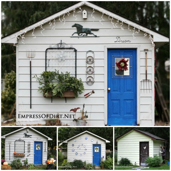 Rustic Shed Through the Seasons Empress of Dirt
