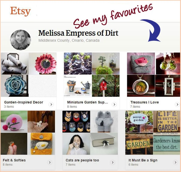 Favourite garden-inspired items on Etsy curated by Empress of Dirt