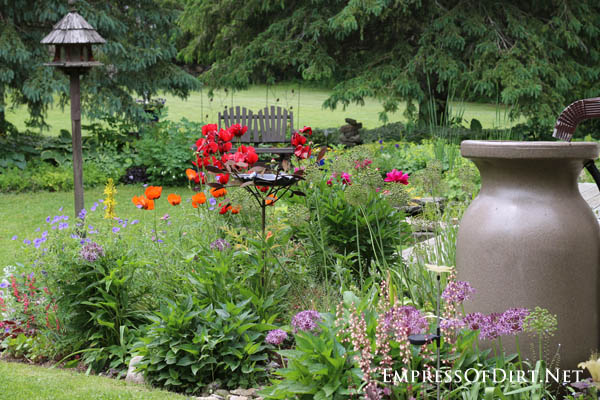 Poppies and rain barrel | 10 Irresistible Reasons To Grow Poppies in Your Garden