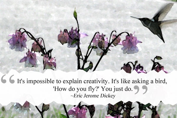 It is impossible to explain creativity. It's like asking a bird, How do you fly? You just do. | How to re-discover your creativity