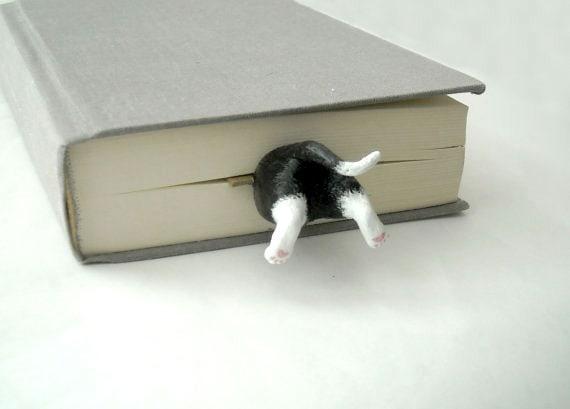 Cat bookmark by Whitehouseblackcat on Etsy