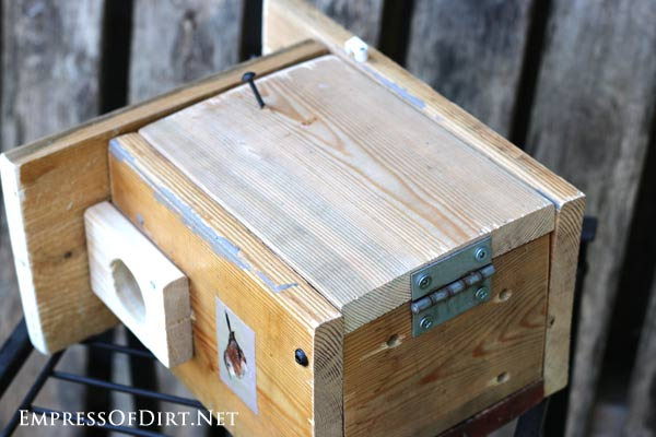 DIY Birdhouses: make a wren nesting box and find out what birds need for a safe and happy home for raising their young. Be sure the box can be opened so it can be cleaned out at the end of each nesting season.