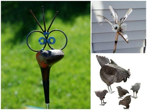 Rustic and Recycled Garden Art ideas on eBay - see all sorts of wonderful ideas here!