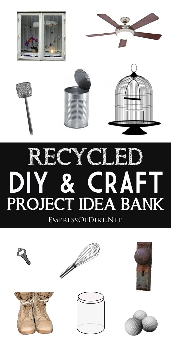 Want to make something cool? Recycled DIY and Craft Project Idea Bank ...