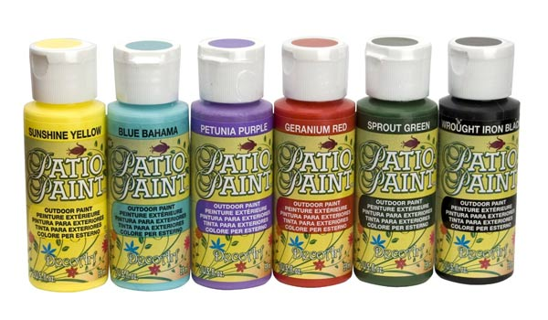 Patio paints (made for outdoor projects) are essential for any garden art toolkit! Lots of uses and a little goes a long way.