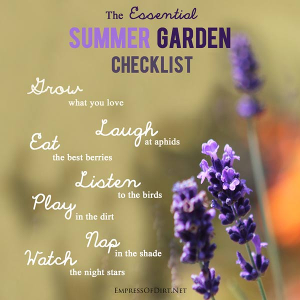 The Essential Summer Garden Checklist. Everything you need is right here!