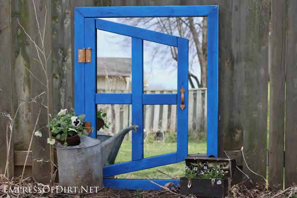 Make a DIY optical illusion garden mirror. See the post for safety tips and have fun with it.