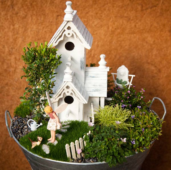 Once you decide on a theme for your fairy or miniature garden, it becomes much easier to choose the right accessories.