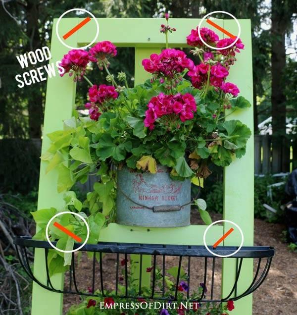 20 Ways To Spiff Up Your Backyard For Spring: DIY Garden Art Easel