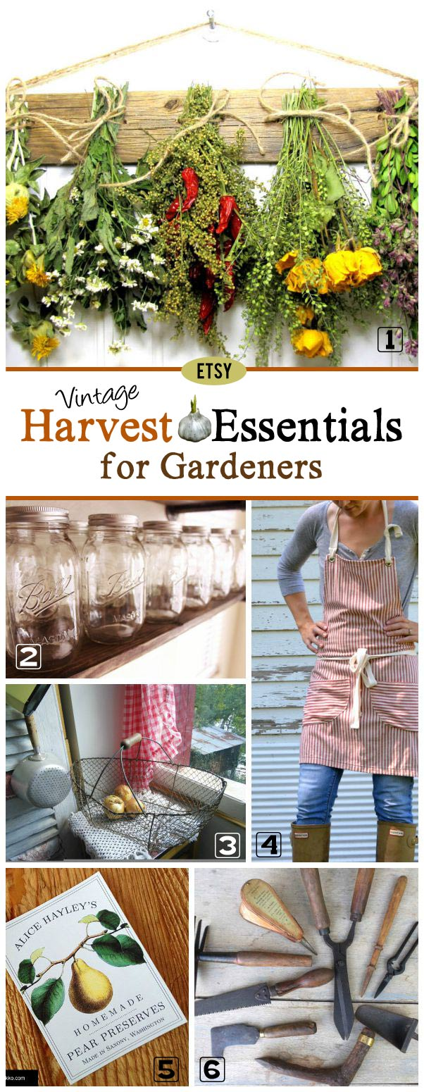 Here's a collection of beautiful and useful supplies from favourite Etsy sellers for harvesting your fall garden.