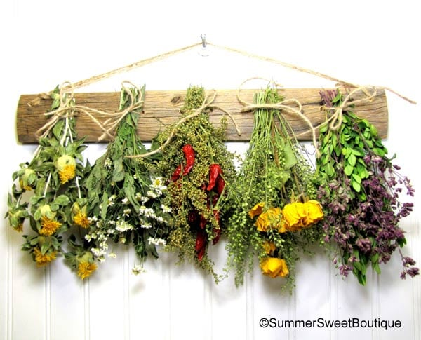 Herb drying rack on Etsy by SummerSweetBoutique