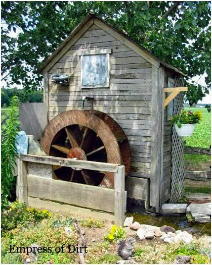 Mini Water Mill at Home Garden