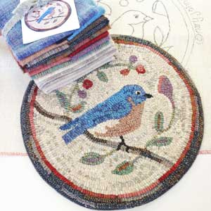 Bluebird rug hooking kit