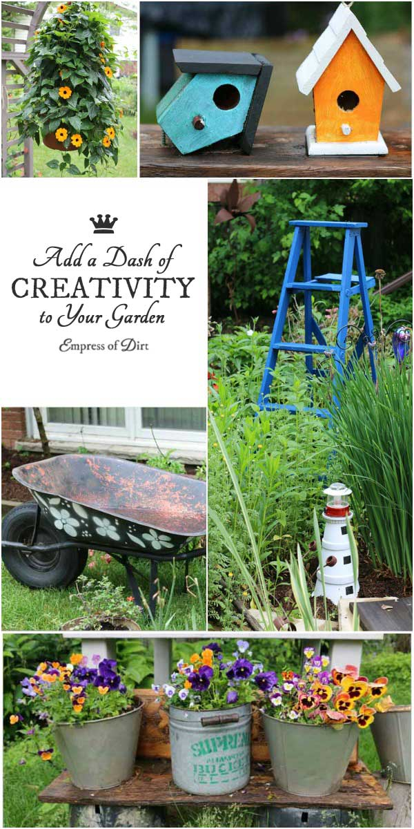 Add a dash of creativity to your garden with garden art and decor! Take ideas home to your garden.