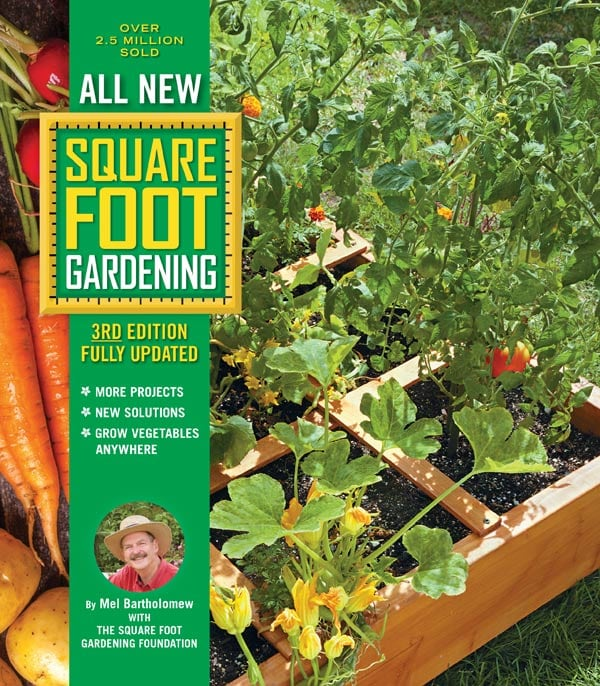 All New Square Foot Gardening book by Mel Bartholomew.