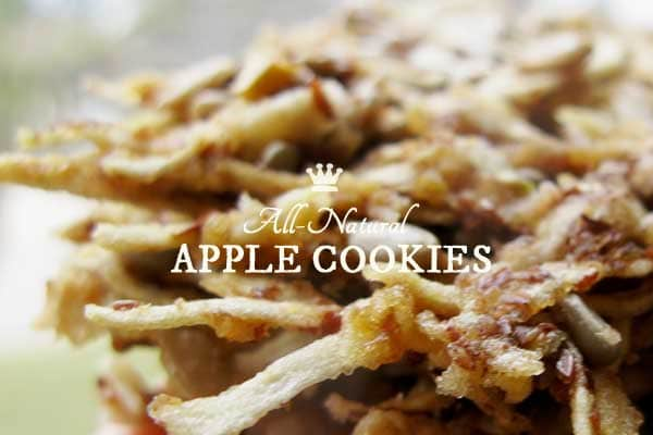 All-Natural Apple Cookies