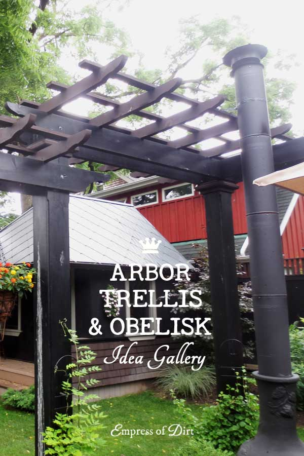 Arbor, trellis, and obelisk idea gallery for your garden