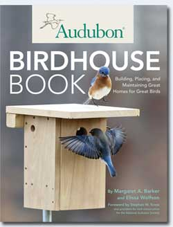 Audubon Birdhouse Book with plans for making a variety of nesting boxes for birds including bluebirds.