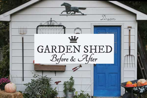 Garden shed makeover with before and after photos