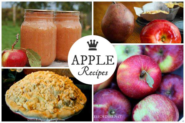 Best recipes for apples including sauces, pies, salads, and more