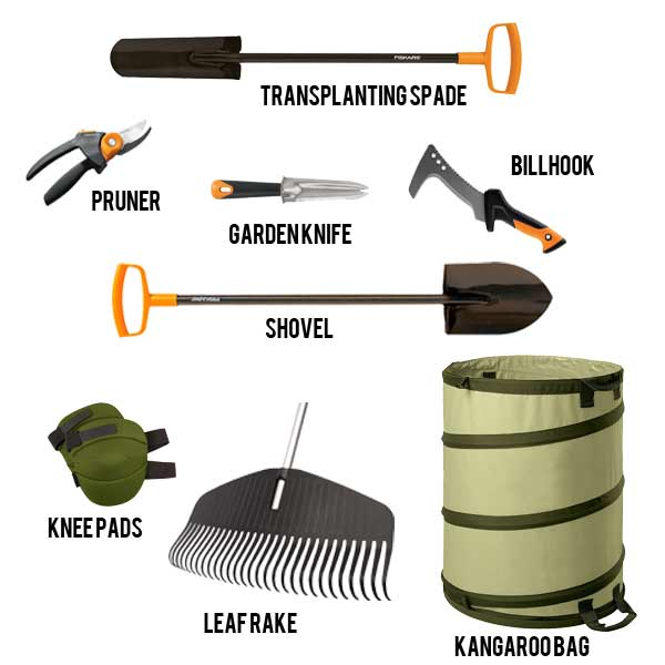 Recommended tools for fall garden cleanup and spring preparation.