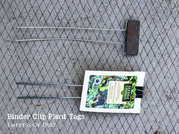 Binder Clip Plant Tags