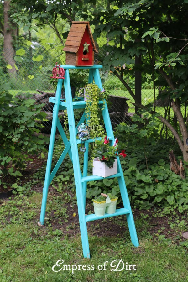 Garden Art Ladder Idea Gallery