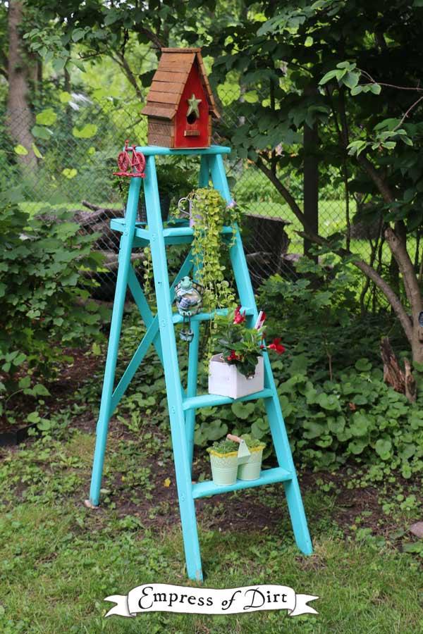 Repurposing Wood Ladders As Garden Art Empress Of Dirt