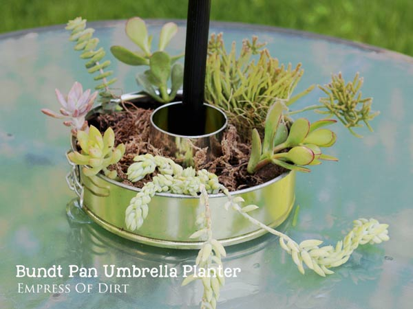 Bundt Pan Umbrella Table Planter