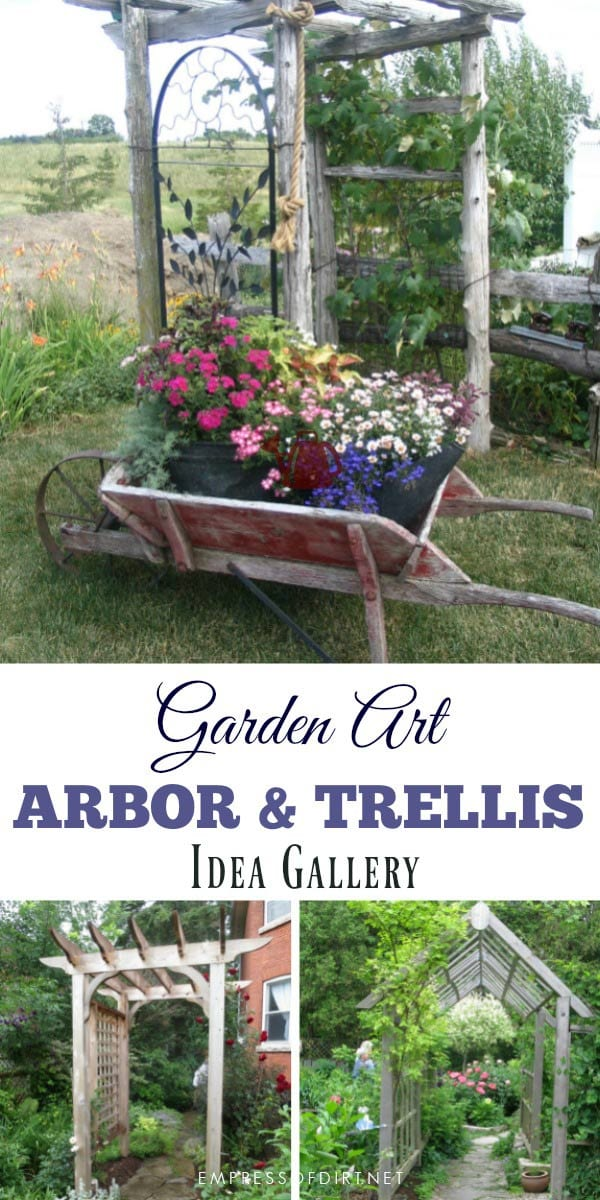 20+ Arbor, Trellis, and Obelisk Ideas to use in your garden.