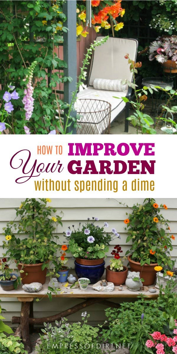 Improve your garden without spending a dime with these fresh ideas.