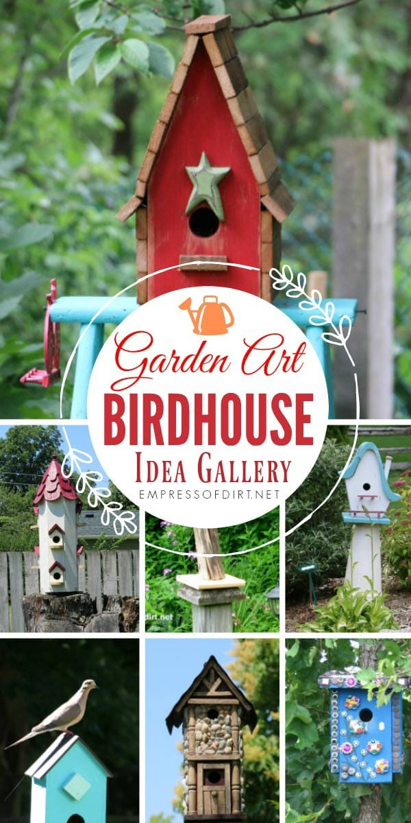 If you love decorative birdhouses, come explore this gallery to grab ideas for your garden.