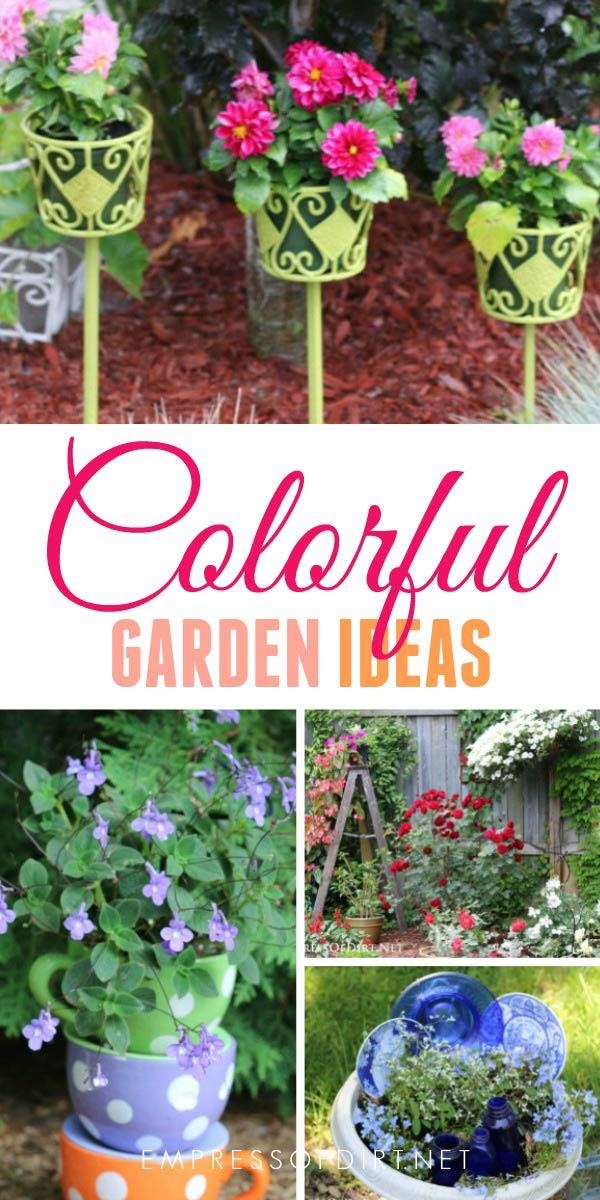 Add a burst of color to your garden with these brilliant ideas.