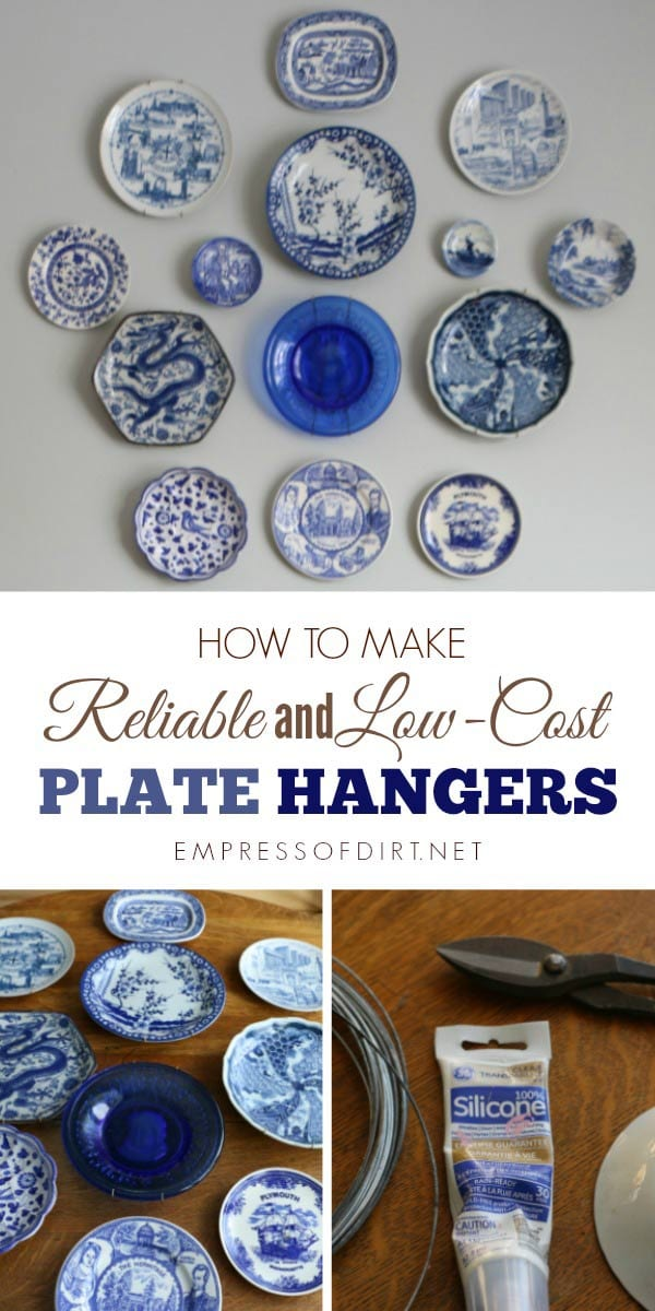 Here's a quick and inexpensive way to make sturdy plate hangers for displaying decorative plates on a wall.