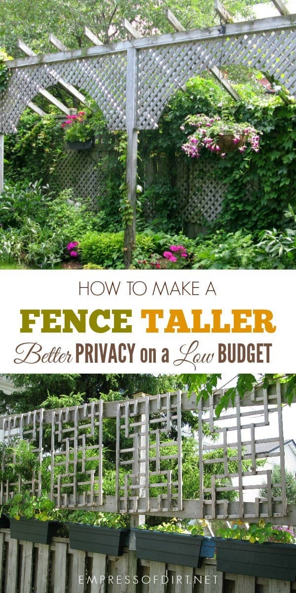 How to make a fence taller for better privacy empress of