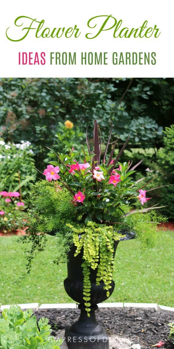 Planter Garden Ideas 21 gorgeous flower planter ideas from home gardens empress of dirt 21 gorgeous flower planter ideas to inspire your garden urns baskets raised beds workwithnaturefo