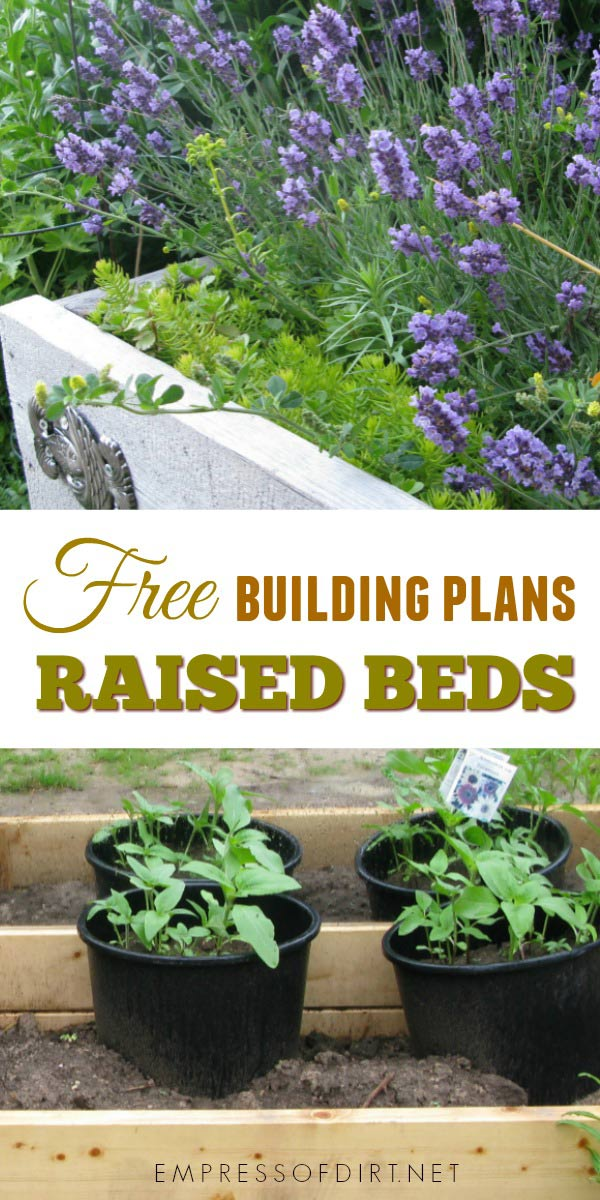 Free building plans for raised garden beds. Whether you're looking to start a garden from scratch or expand your existing masterpiece, raised garden beds are a great solution for many garden problems including poor soil quality and drainage, slopes, and accessibility issues.