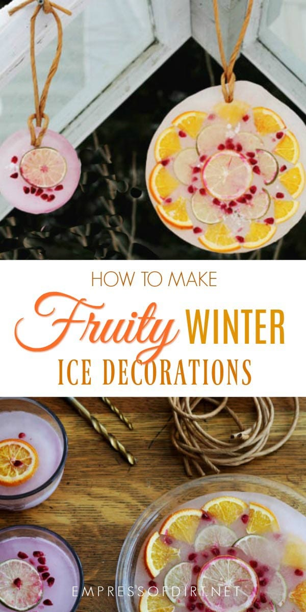 How to make ice decorations for the winter garden.