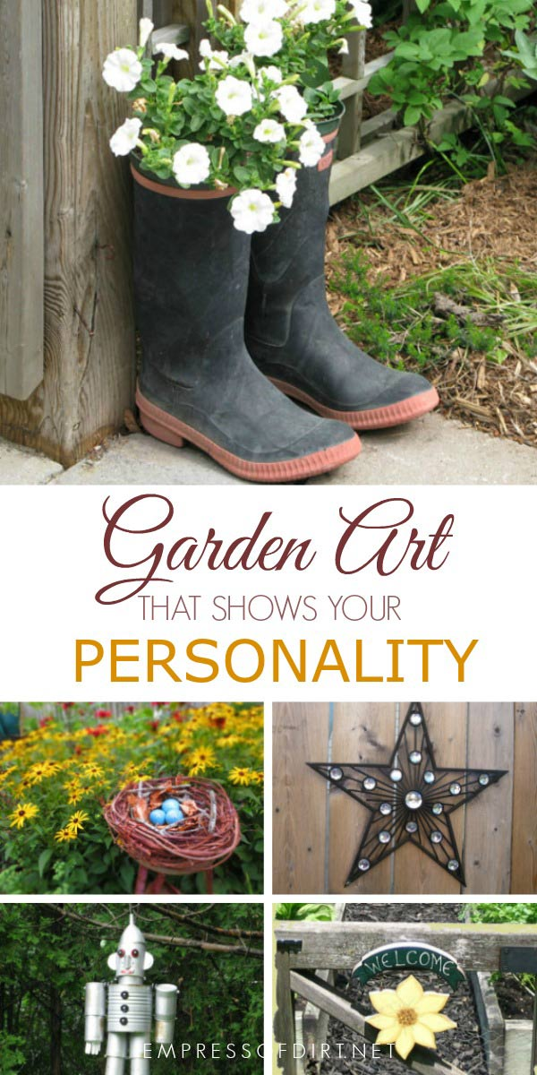Easy garden art ideas that show your personality.