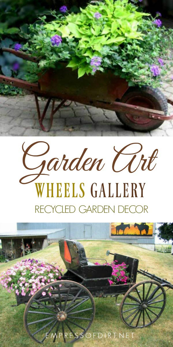 Creative Garden Art Planters With Wheels