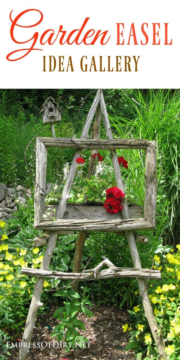 Garden art easels are perfect for adding an artisitc touch to your garden.