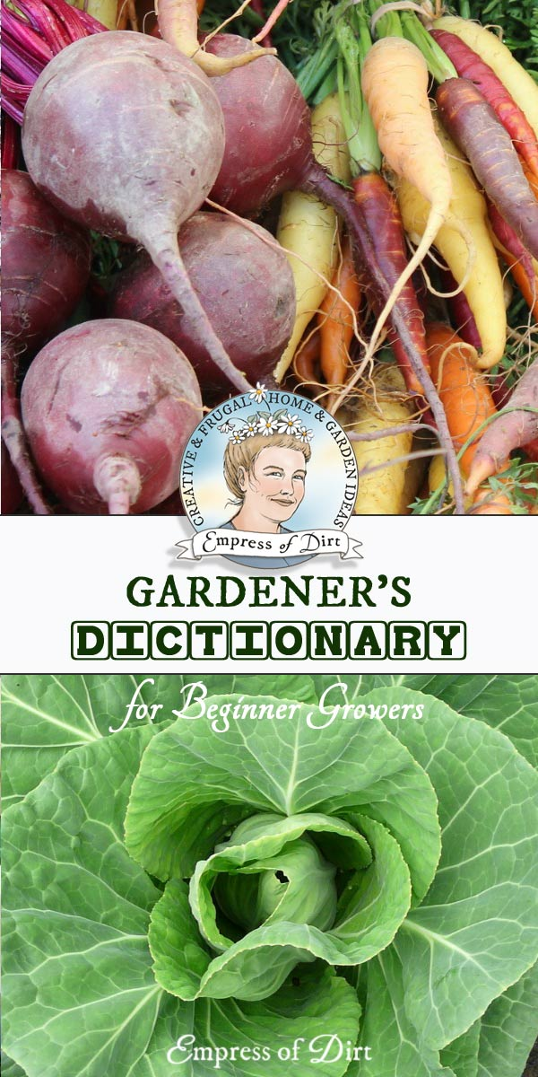 The gardening world is filled with all sorts of unusual terms and jargon. We have our own language!