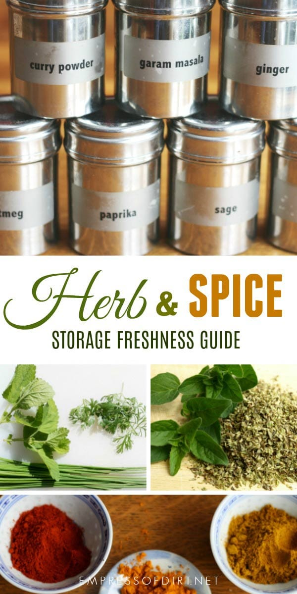 How do I know when my kitchen herbs and spices are no longer good? This tells you how to test for freshness, and provides tips and tricks to make dry herbs and spices used for cooking last as long as possible.
