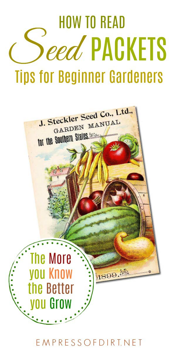 How to read seed packets for essential growing tips