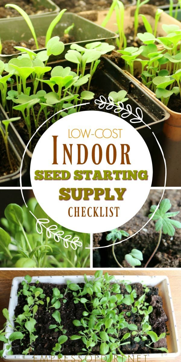 The best low-cost supplies for starting seeds indoors.