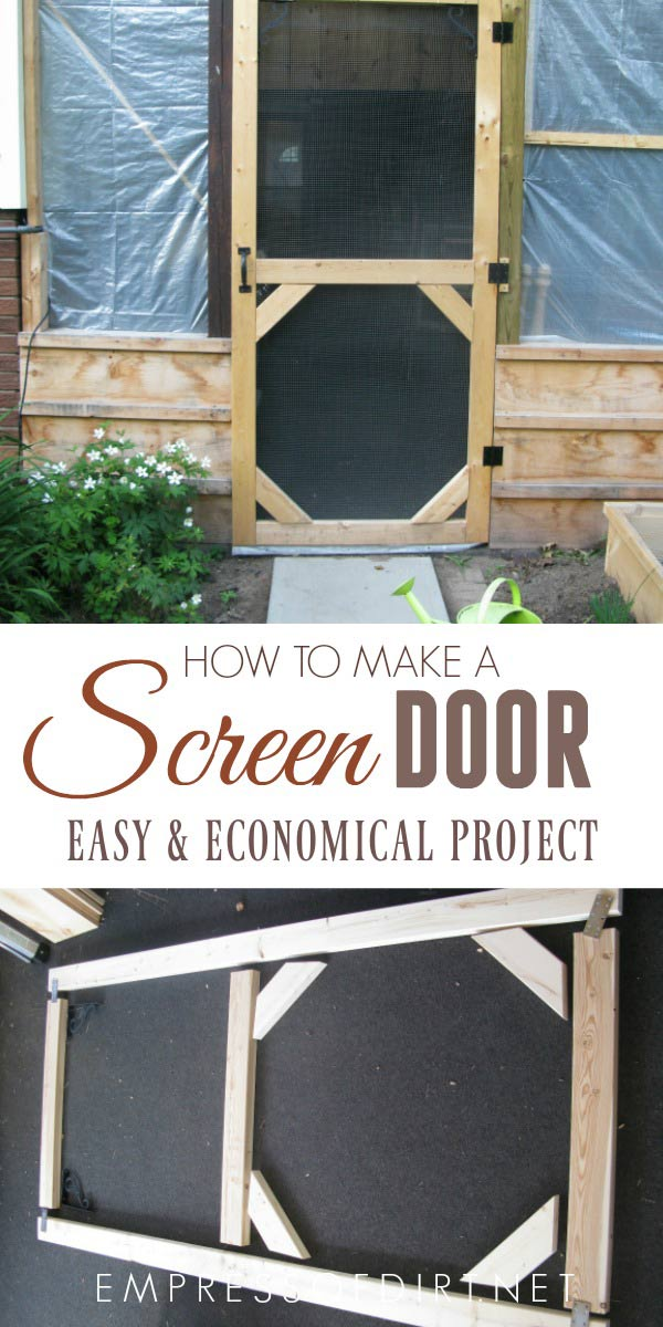 This shows how to make a simple screened patio door using basic tools and lumber.